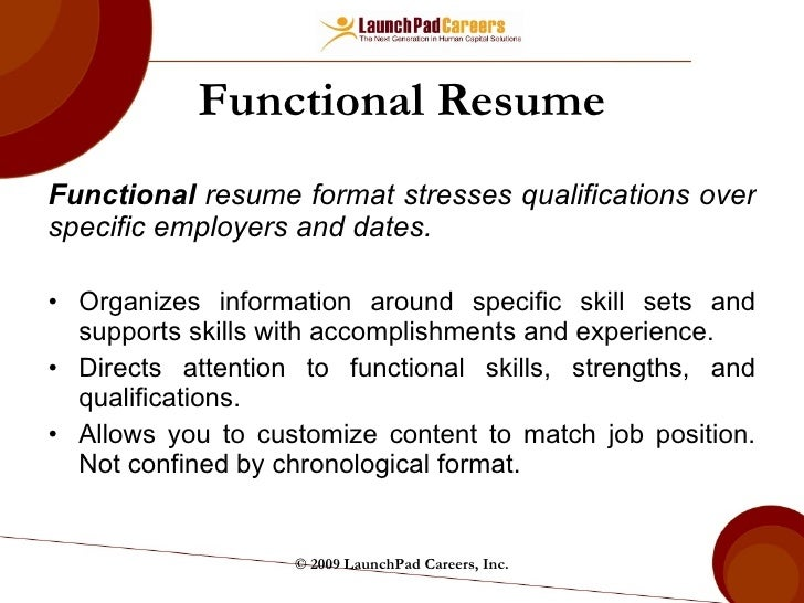 Beautiful Functional Resume ... On Functional Resume Vs Chronological