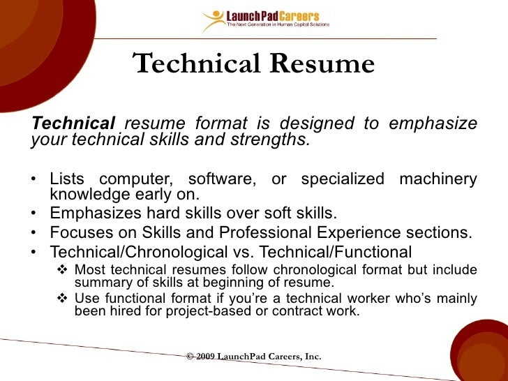 Technical Resume ...