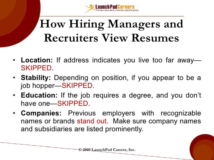 view a resume