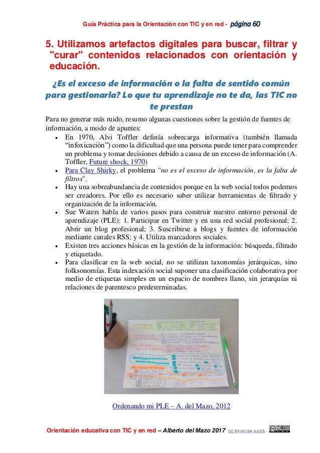 Guía Práctica para la Orientación con TIC y en red - página 60 Orientación educativa con TIC y en red – Alberto del Mazo 2...