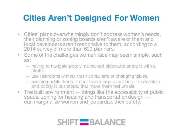 Building cities with women in mind