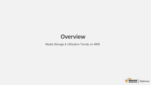 Beau Overview Media Storage U0026 Utilization Trends On AWS ...