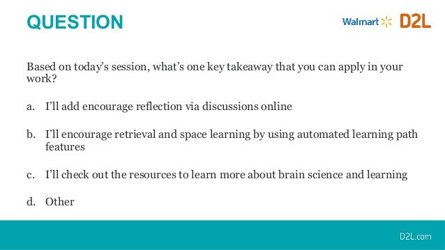 How To Apply Brain Science Of >> Applying Brain Science In Online Learning Design A