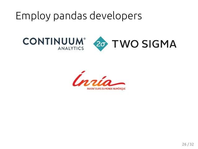 Employ pandas developers 26 / 32