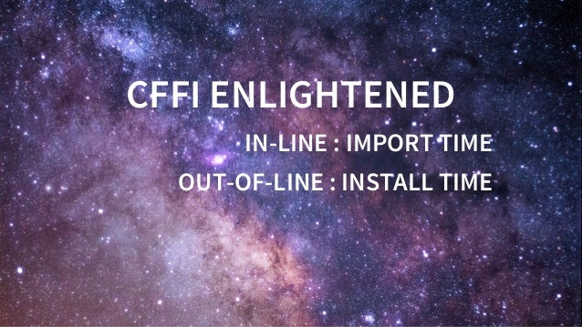 CFFIENLIGHTENED IN-LINE:IMPORTTIME OUT-OF-LINE:INSTALLTIME