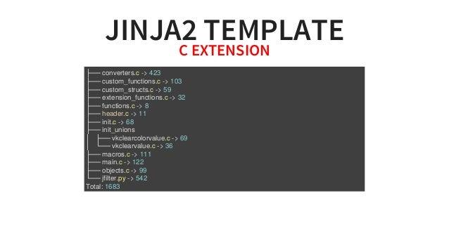 JINJA2TEMPLATECEXTENSION ├──converters.c->423 ├──custom_functions.c->103 ├──custom_structs.c->59 ├──extension_...