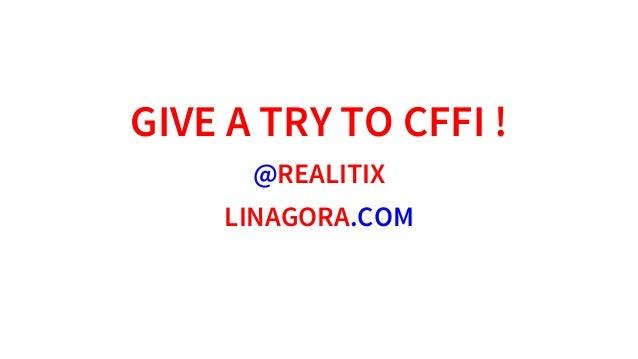 GIVEATRYTOCFFI! @REALITIX LINAGORA.COM