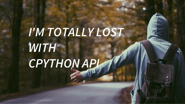 I'MTOTALLYLOST WITH CPYTHONAPI