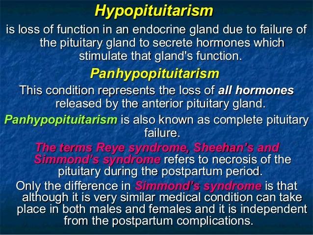 Hypopituitarism & Hyperpituitarism