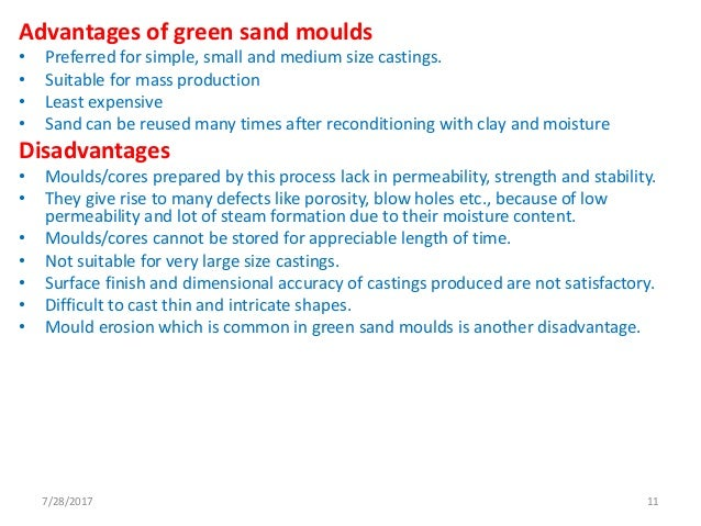 casting defects of green sand moulding pdf