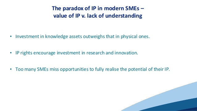 Unlocking SME innovation and growth potential through IP Slide 3