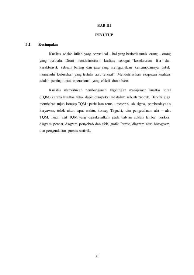 Pengelolaan kualitas makalah indonesia 31 ccuart Images