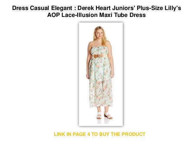 Dress Casual Elegant : Derek Heart Juniors\' Plus-Size Lilly\'s AOP Lac…
