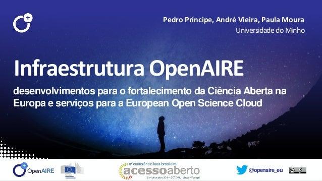 @openaire_eu Infraestrutura OpenAIRE desenvolvimentos para o fortalecimento da Ciência Aberta na Europa e serviços para a ...