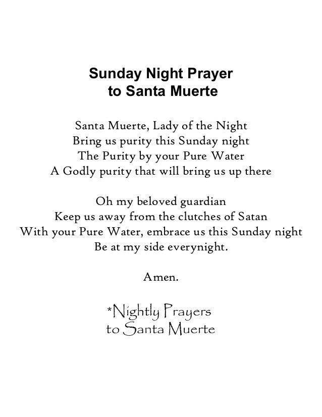 Santa Muerte Nightly Prayers