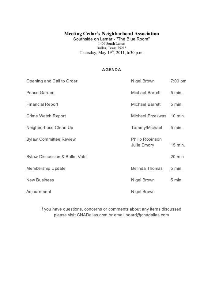 "Meeting Cedar's Neighborhood Association                        Southside on Lamar - ""The Blue Room""                      ..."