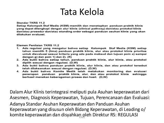Tata Kelola Dalam Alur Klinis terintegrasi meliputi pula Asuhan keperawatan dari Asesmen, Diagnosis Keperawatan, Tujuan, P...