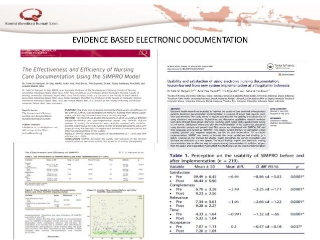 EVIDENCE BASED ELECTRONIC DOCUMENTATION KARS