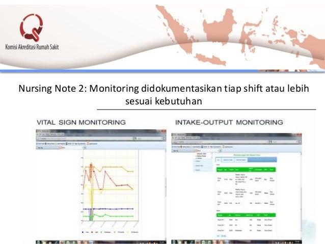 Nursing Note 2: Monitoring didokumentasikan tiap shift atau lebih sesuai kebutuhan