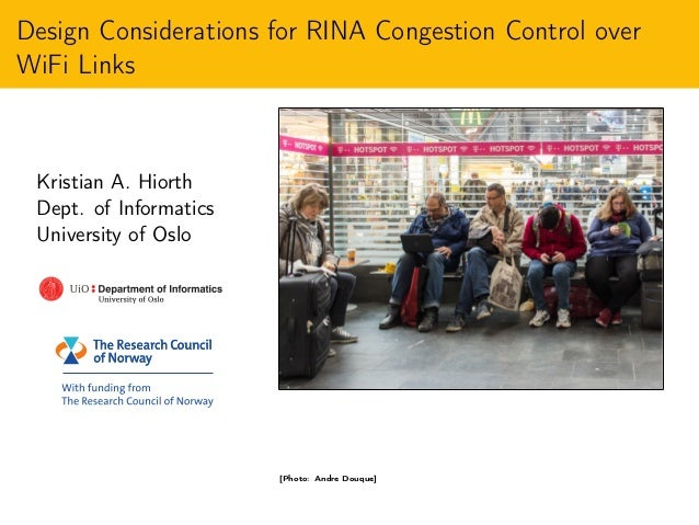 Design Considerations for RINA Congestion Control over WiFi Links Slide 2