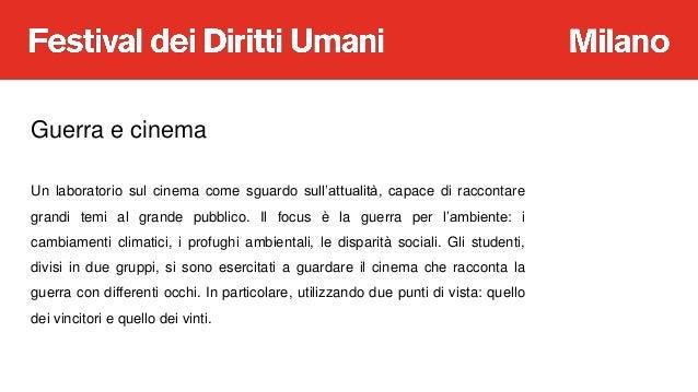 A Scuola di Diritti Umani: Leggere il cinema: la guerra per l'ambiente raccontata dai film  Slide 3