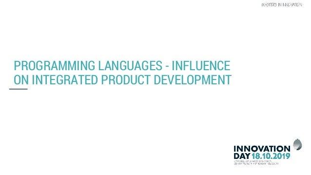 Software language over the last 50 years, what will be next (by Pieter Zuliani & Joachim Jansen) Slide 3
