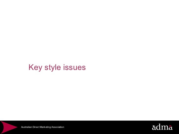 Key style issues
