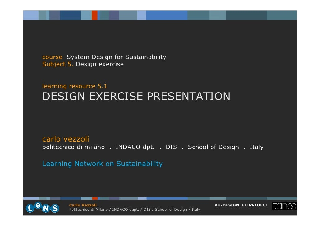5.1 design exercise presentation