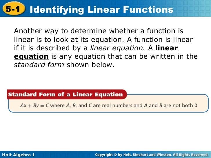 Standard Form Equation of a line