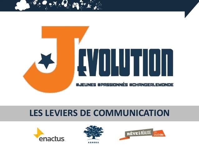 LES LEVIERS DE COMMUNICATION