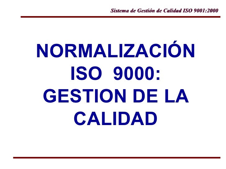 5.1 norma iso 9000