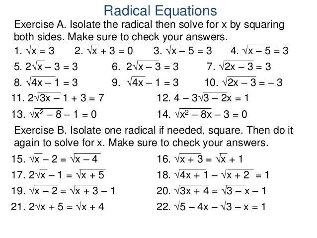 4.6 radical equations