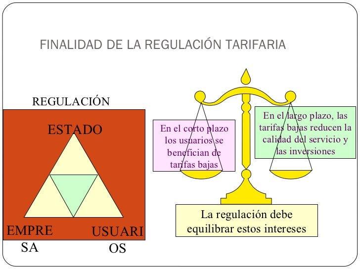 FINALIDAD DE LA REGULACIÓN TARIFARIA En el corto plazo los usuarios se benefician de tarifas bajas En el largo plazo, las ...