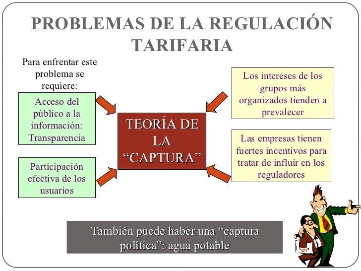 """TEORÍA DE LA """"CAPTURA"""" PROBLEMAS DE LA REGULACIÓN TARIFARIA También puede haber una """"captura política"""": agua potable Para ..."""