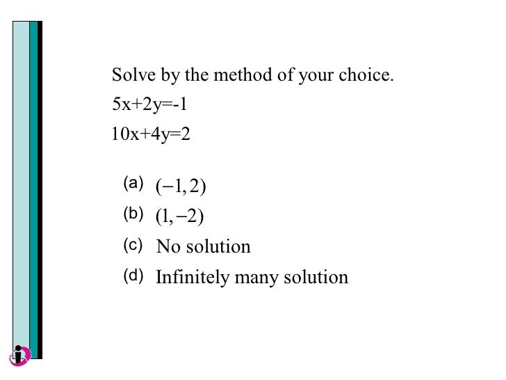 Image Result For Infinitely Many Solutions Grapha