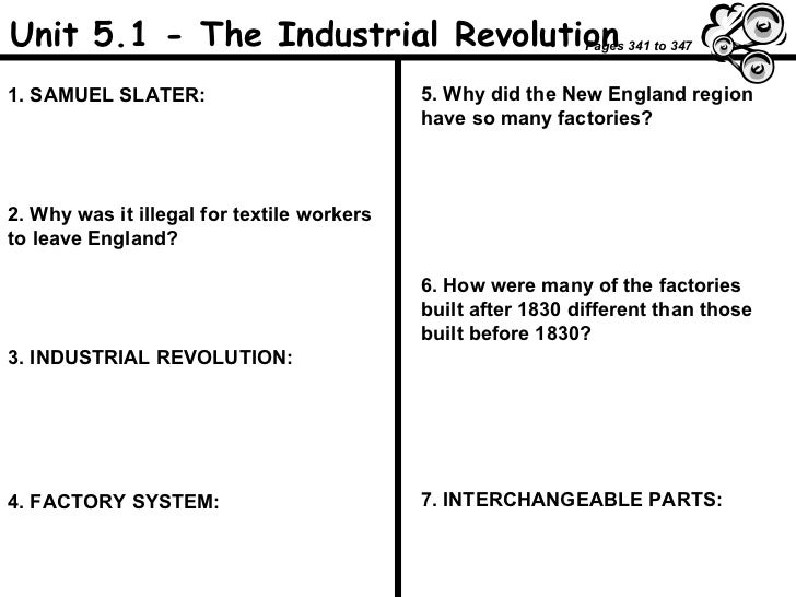 Printables Industrial Revolution Worksheet industrial revolution worksheet unit 5 1 the samuel slater 2