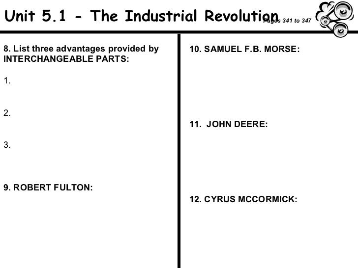 Industrial Revolution worksheet – Industrial Revolution Worksheet