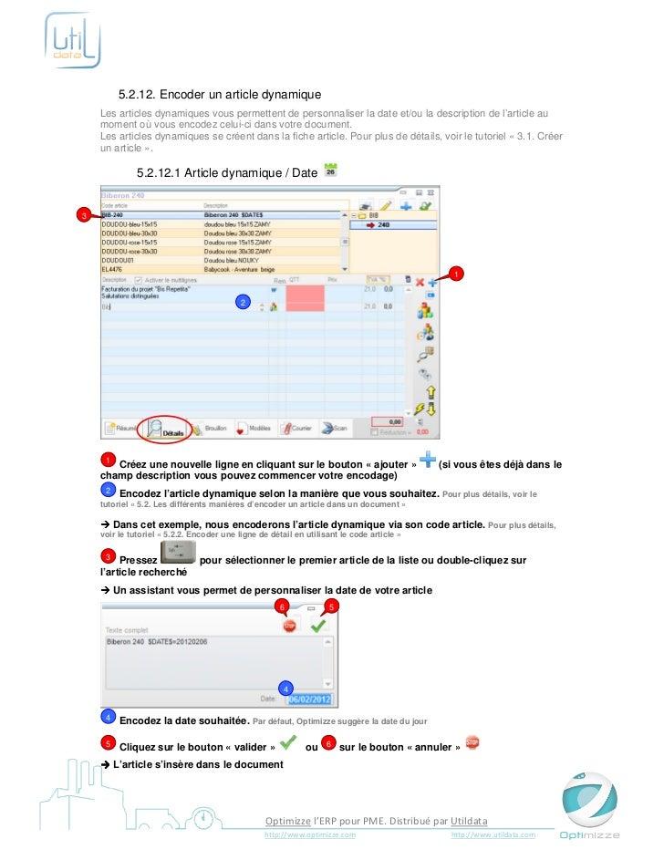 5.2.12. Encoder un article dynamique    Les articles dynamiques vous permettent de personnaliser la date et/ou la descript...