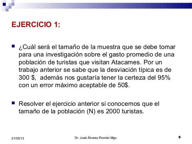 EJERCICIO 1: ¿Cuál será el tamaño de la muestra que se debe tomarpara una investigación sobre el gasto promedio de unapob...