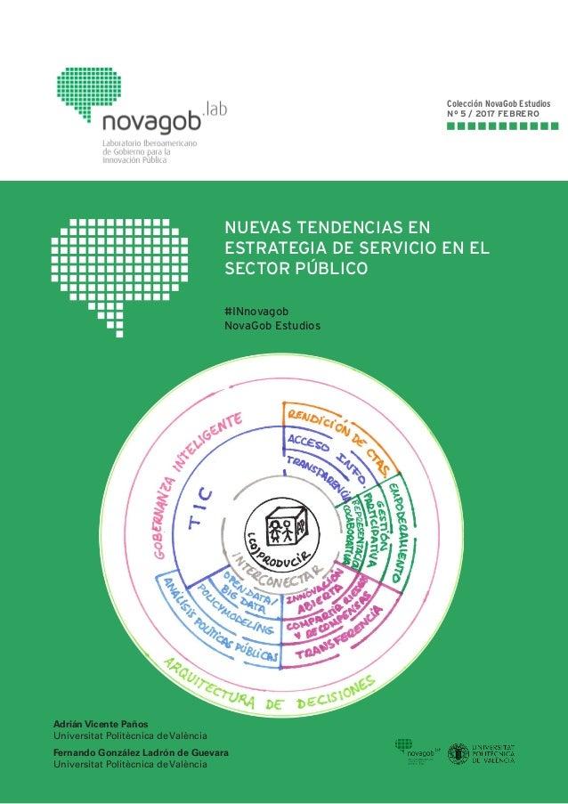 NUEVAS TENDENCIAS EN ESTRATEGIA DE SERVICIO EN EL SECTOR PÚBLICO #INnovagob NovaGob Estudios Colección NovaGob Estudios Nº...