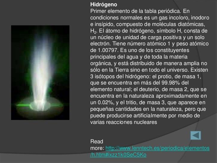 2 hidrgenoprimer elemento de la tabla peridica - Tabla Periodica Lenntech