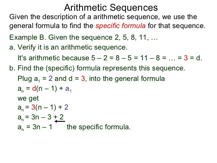 5.2 Arithmetic Sequences