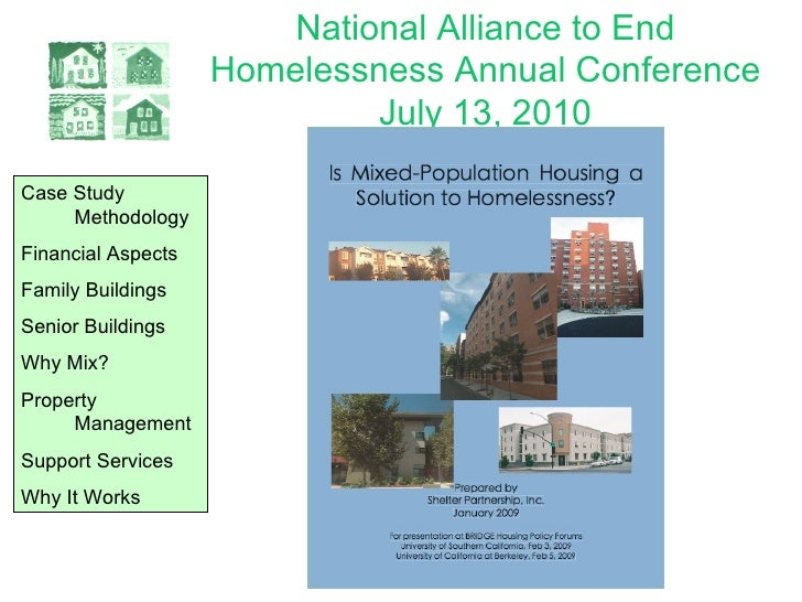 National Alliance to End Homelessness Annual Conference July 13, 2010