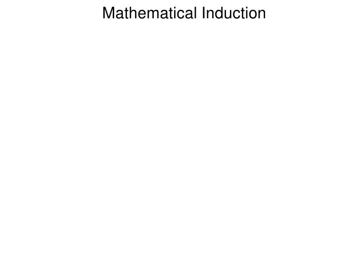 Mathematical Induction<br />