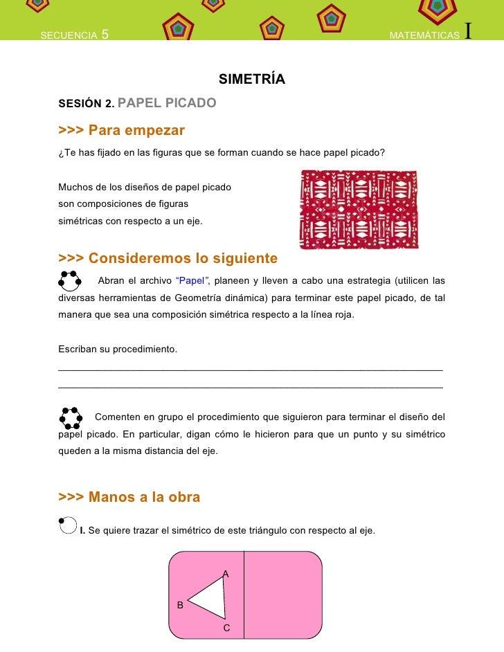 SECUENCIA   5                                                                   MATEMÁTICAS   I                           ...