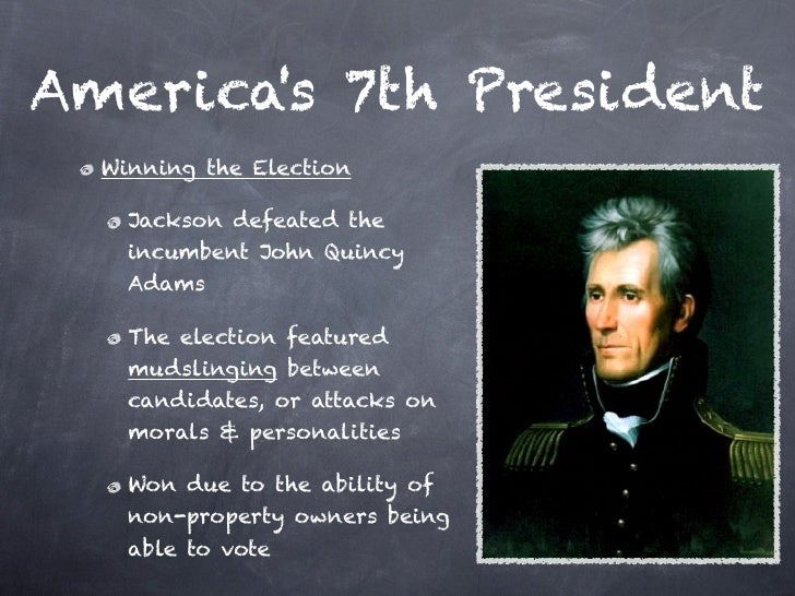 an introduction to the andrew jacksons presidency Andrew jackson revisited | zinn education project: teaching people's history   presidents and slaves: helping students find the truth (teaching activity) | zinn  education  2005, with a new introduction by anthony arnove in 2015.