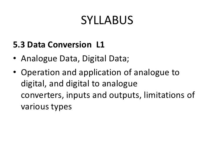 EASA PART-66 MODULE 5.3 : DATA CONVERSION Slide 2