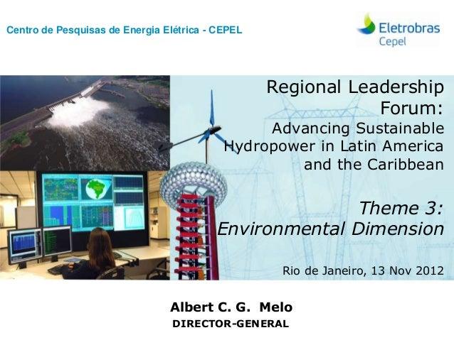 Centro de Pesquisas de Energia Elétrica - CEPEL                                                         Regional Leadershi...