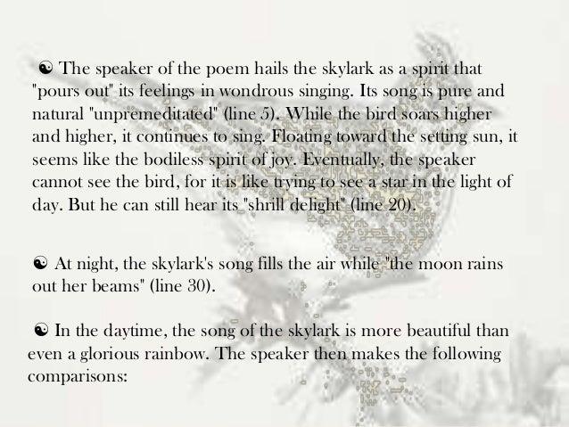 to a skylark stanza explanation