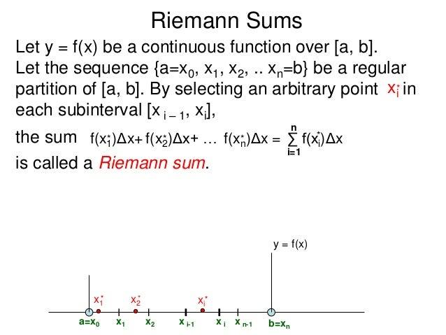 how to explain riemann sums